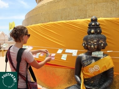 Thailand reizen - Thailand - beklim de Golden Mount in Bangkok en doe een offering