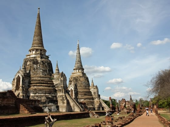 Chedi's en Prangs in Ayutthaya