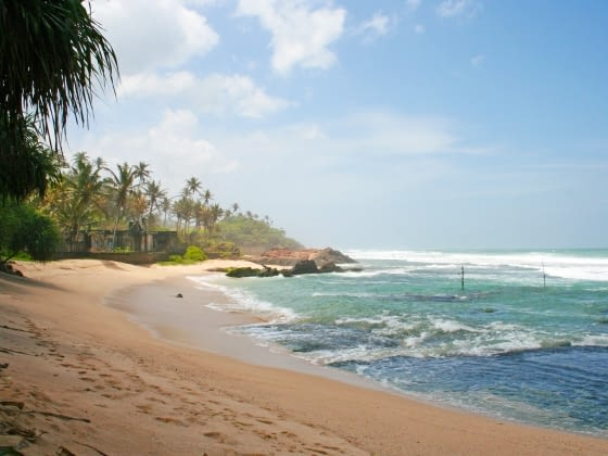 Stranden in Sri Lanka