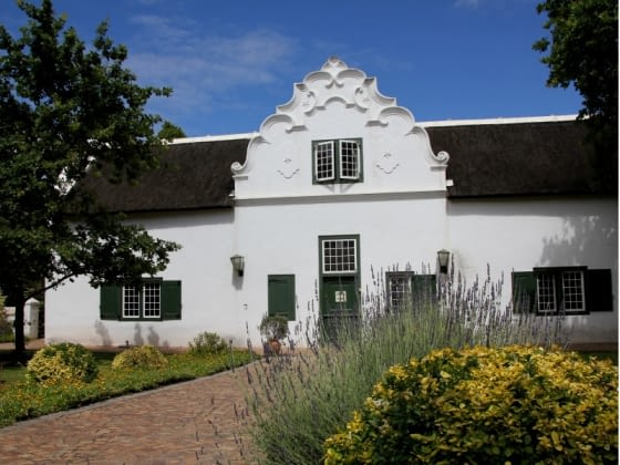 Cape Dutch huisjes in Stellenbosch